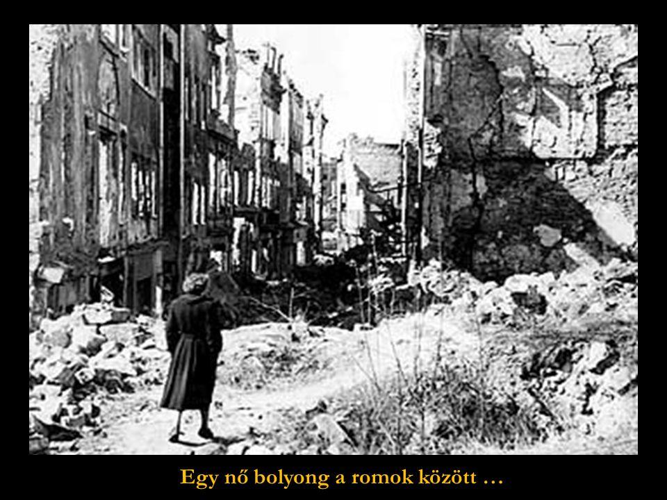 Az egykor gyönyörű város romjai.