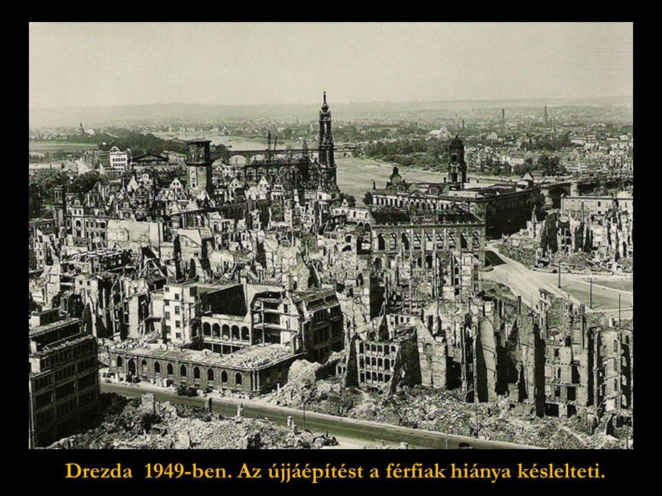 """""""És akik elfelejtették, hogyan kell sírni, majd megtanulják új- ra, ha látják ezt a lerombolt várost, Drezdát. Gerhart Hauptmann költő,aki 1912."""