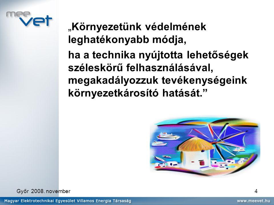Győr 2008.november5 Magas az energiaköltség. Hazánk primer energiahordozókban szegény.