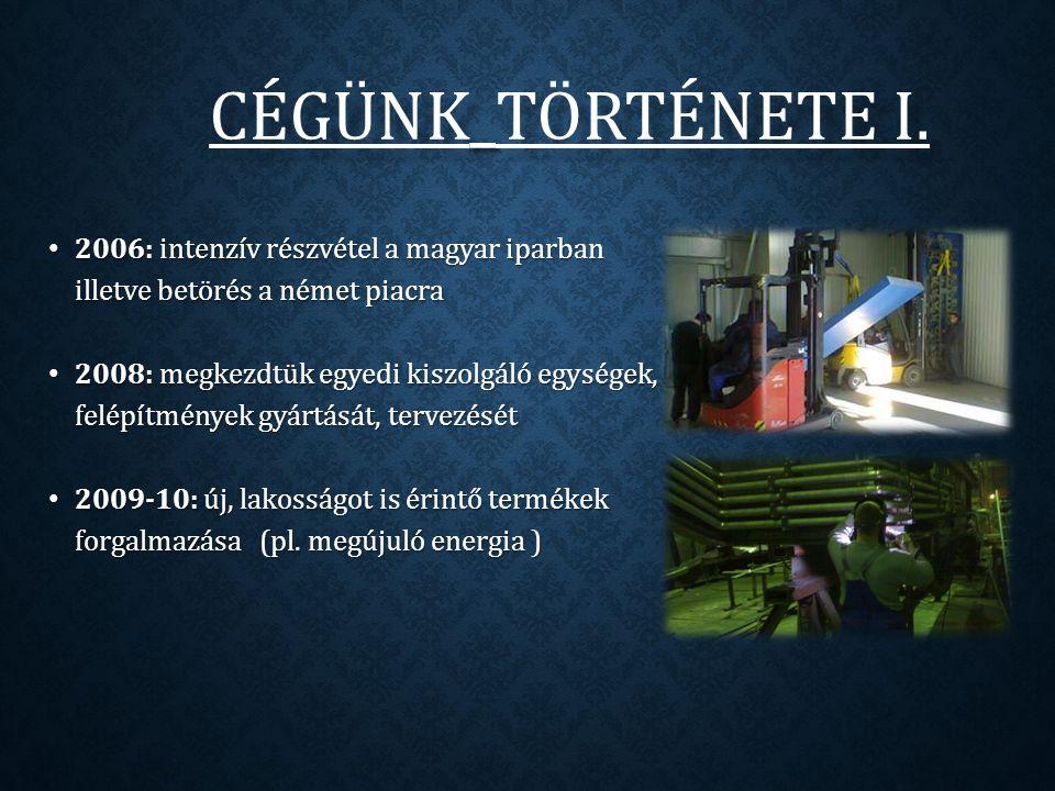 CÉGÜNK _ TÖRTÉNETE II.CÉGÜNK_TÖRTÉNETE II. 2010: szlovák és román piac elindítása.