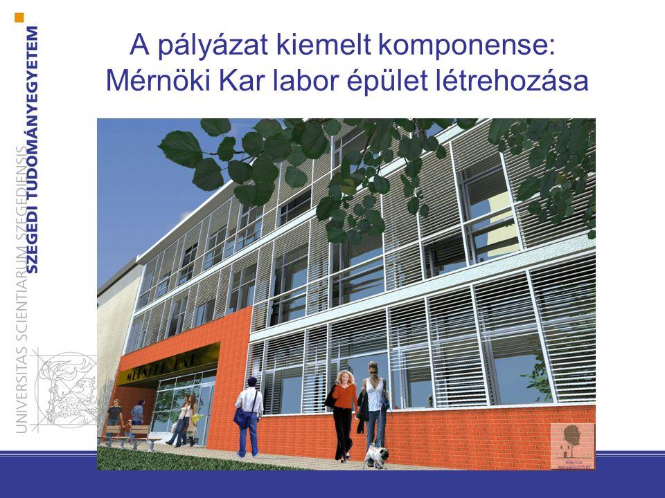 A pályázat kiemelt komponense: Mérnöki Kar labor épület létrehozása