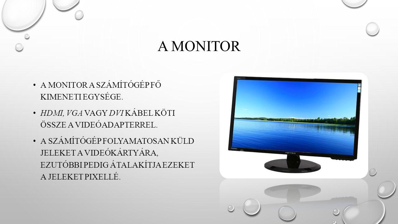A MONITOROK FŐ FAJTÁI CRT LCD/TFT PDP