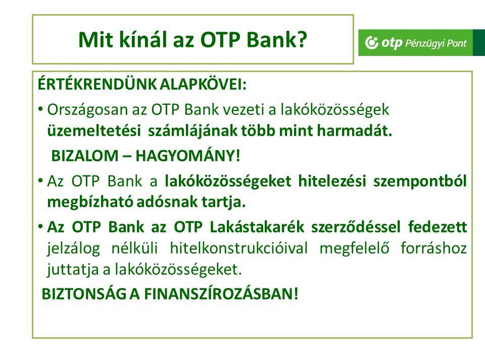 Mit kínál az OTP Bank.