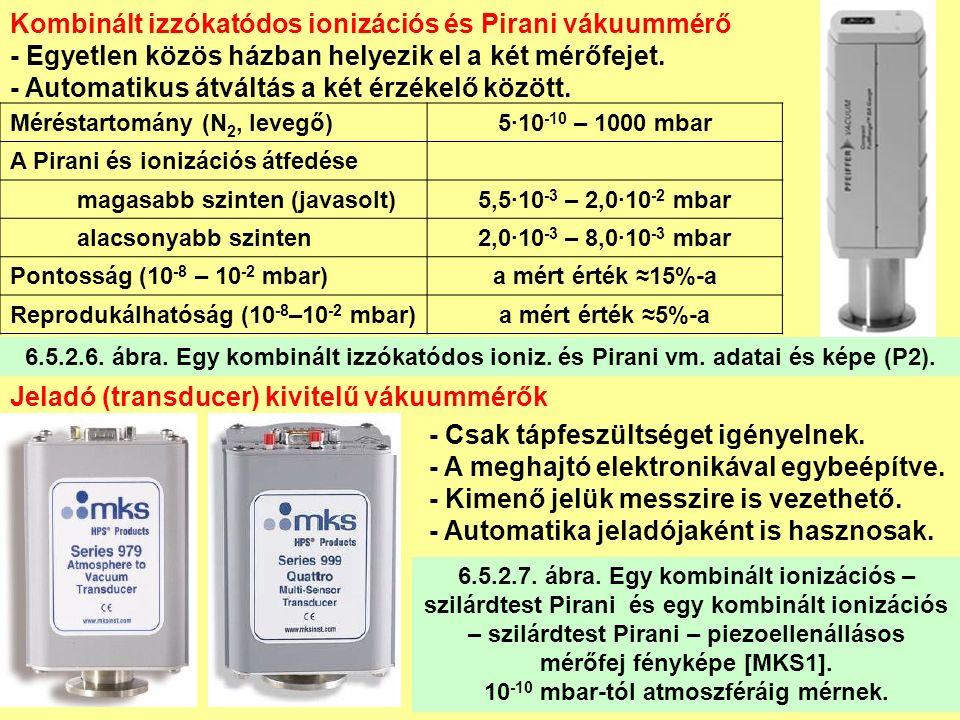 Kombinált izzókatódos ionizációs és Pirani vákuummérő - Egyetlen közös házban helyezik el a két mérőfejet.