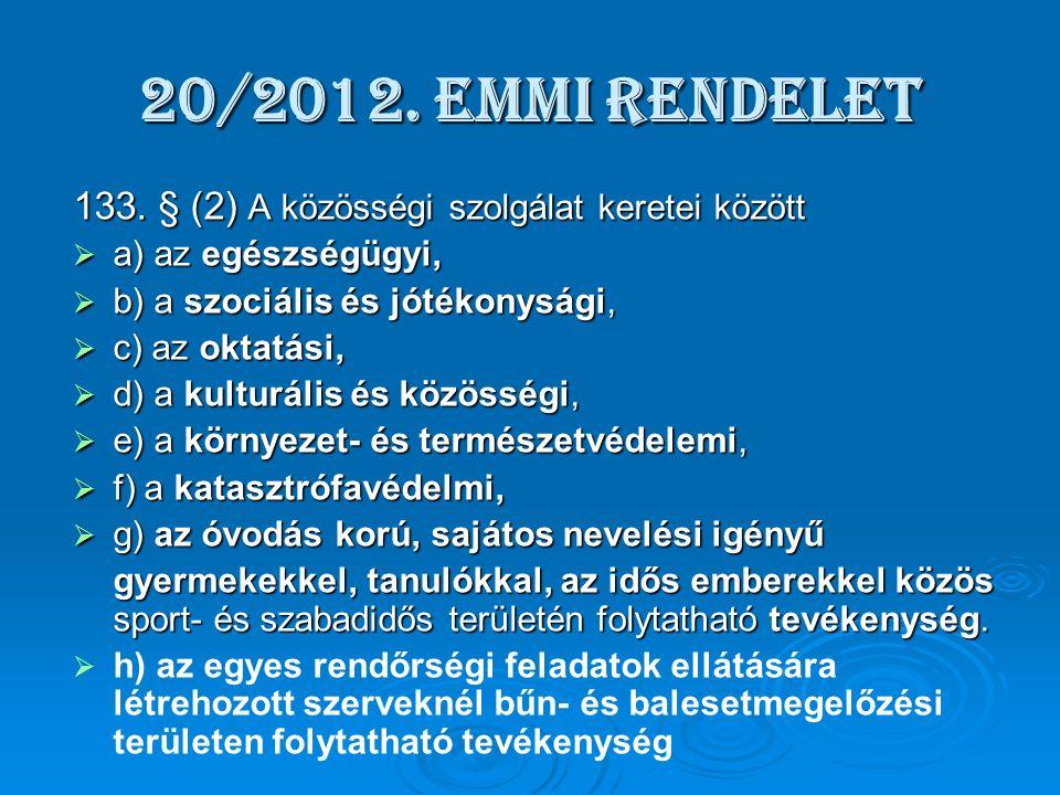 20/2012. EMMI rendelet 133.
