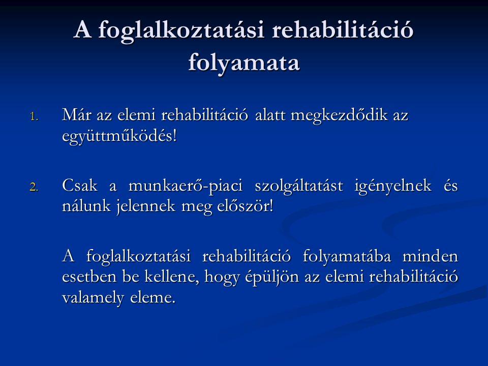 A foglalkoztatási rehabilitáció folyamata 1.