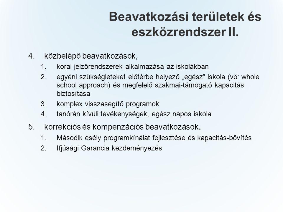 Beavatkozási területek és eszközrendszer II.