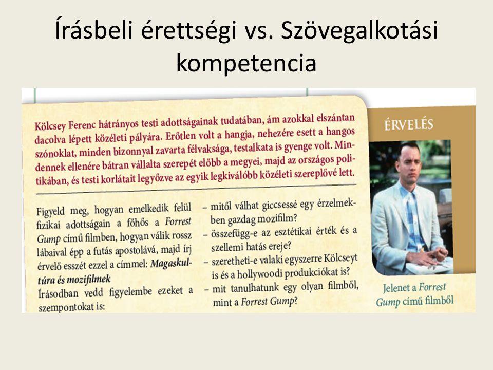 Írásbeli érettségi vs. Szövegalkotási kompetencia