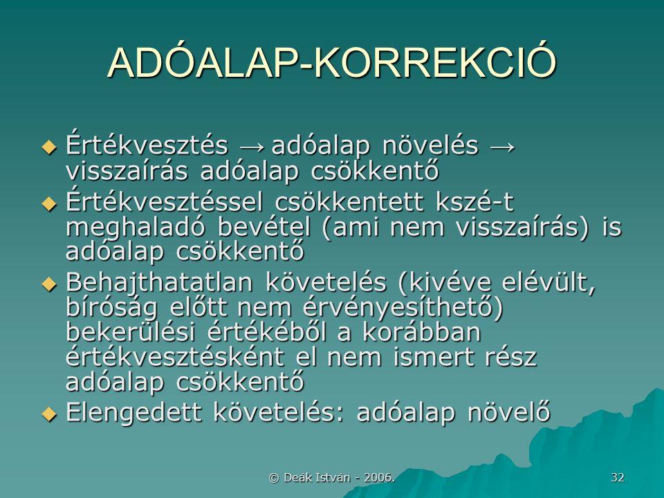 © Deák István - 2006.