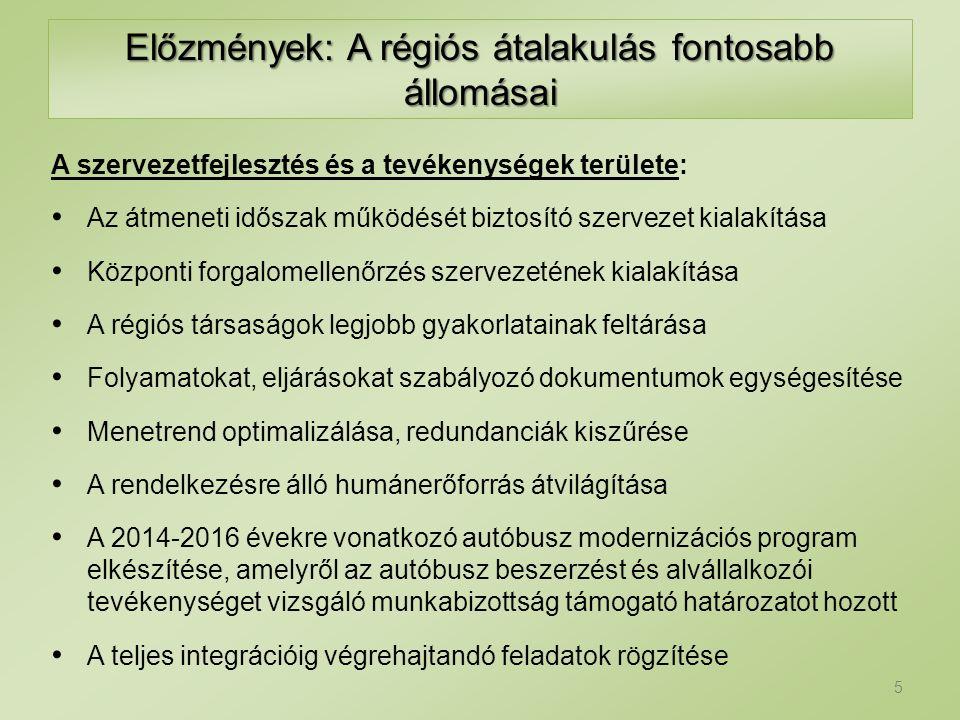 A régiós átalakítás feladatait meghatározó körülmények működési környezet szervezet üzemméret Eltérő 6