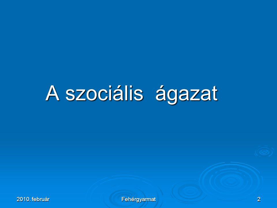 Fehérgyarmat2 A szociális ágazat A szociális ágazat