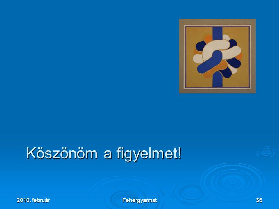 2010. februárFehérgyarmat36 Köszönöm a figyelmet! Köszönöm a figyelmet!