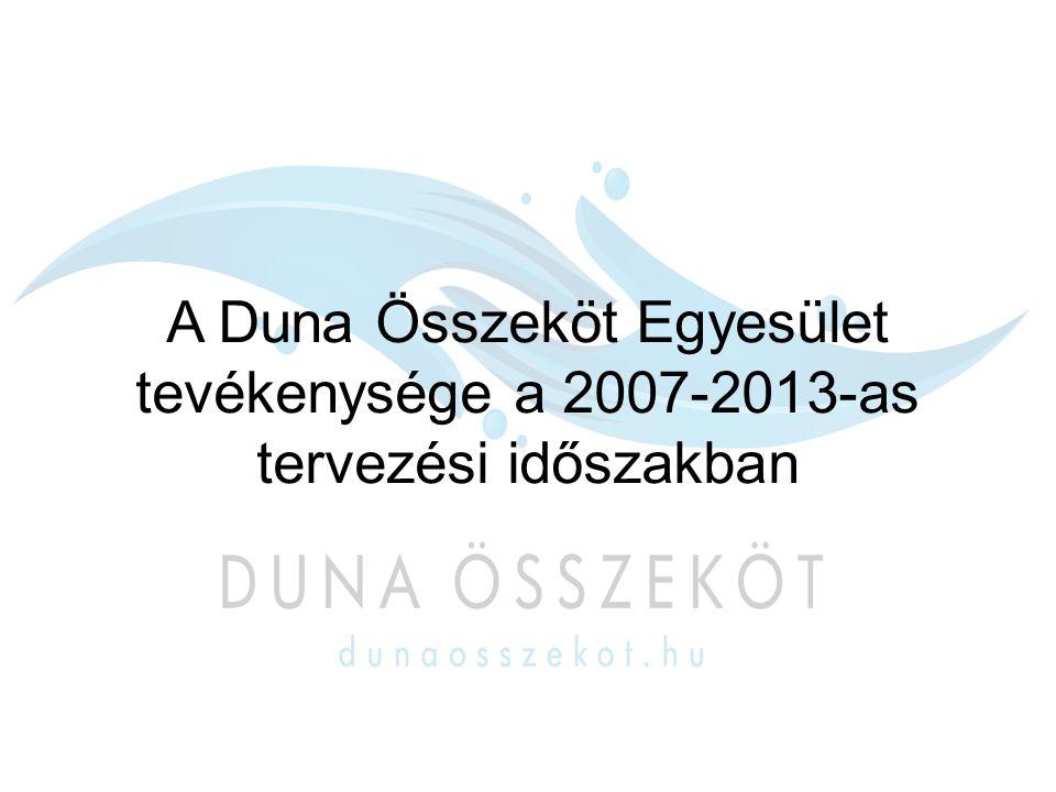 Saját projekt Térségi Marketing kialakítása – Duna Összeköt Egyesület térségi marketing stratégiájának kialakítása a 21 település számára Arculati kézikönyv Marketing stratégia PR film Médiakampány Promóciós temékek Csomagolás tervek