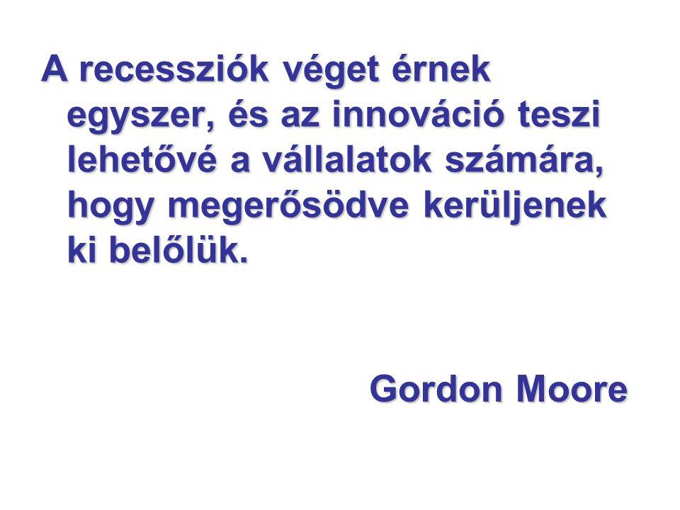 Gordon Moore A recessziók véget érnek egyszer, és az innováció teszi lehetővé a vállalatok számára, hogy megerősödve kerüljenek ki belőlük.