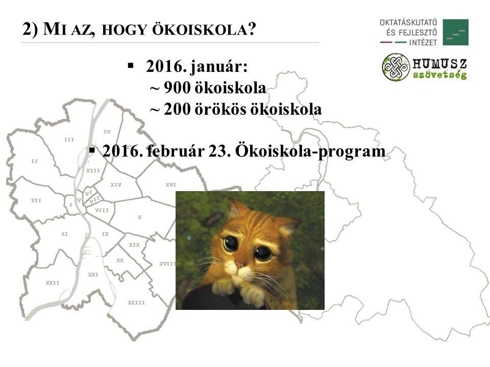 2) M I AZ, HOGY ÖKOISKOLA .  2016. február 23. Ökoiskola-program  2016.
