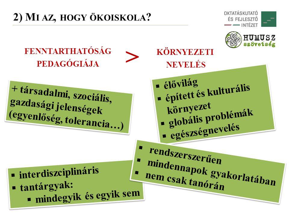 2) M I AZ, HOGY ÖKOISKOLA .
