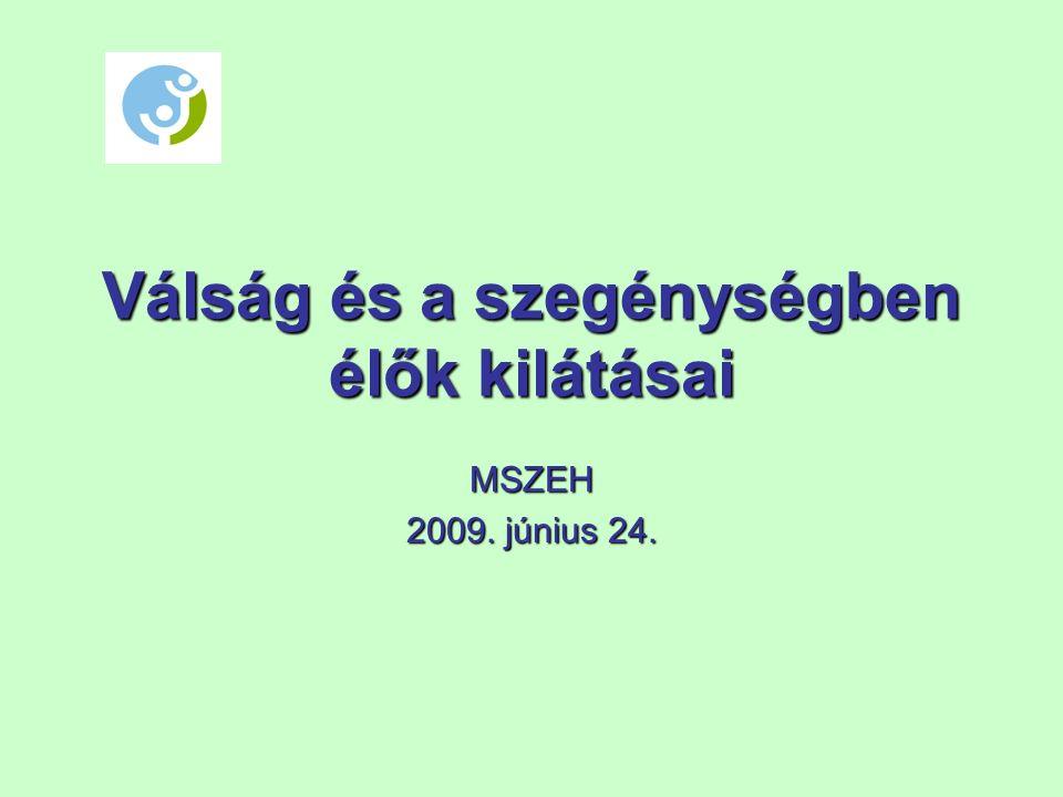 Válság és a szegénységben élők kilátásai MSZEH 2009. június 24.
