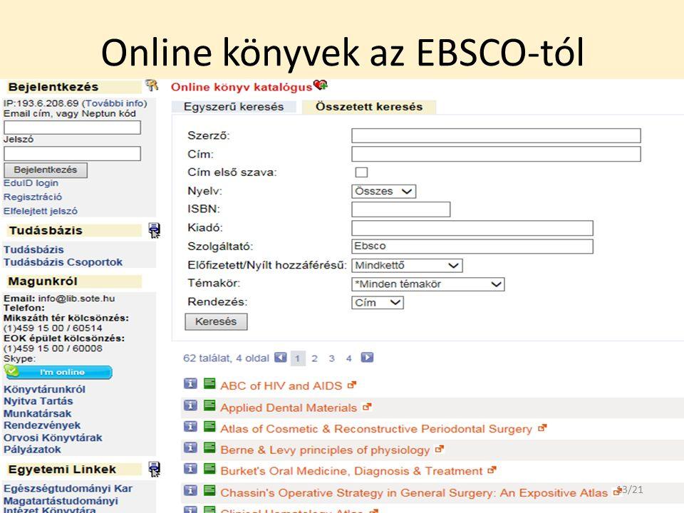Online könyvek az EBSCO-tól 13/21