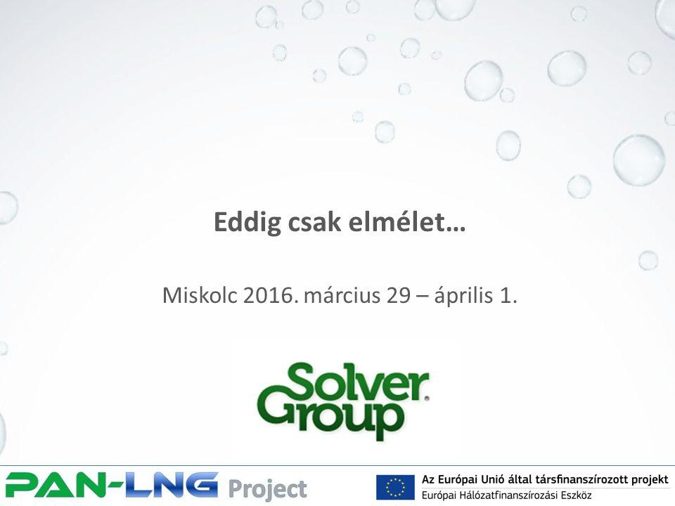 Eddig csak elmélet… Miskolc 2016. március 29 – április 1.