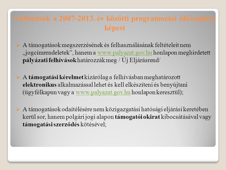 Változások a 2007-2013.