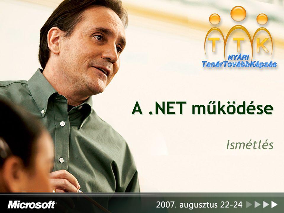 A.NET működése Ismétlés