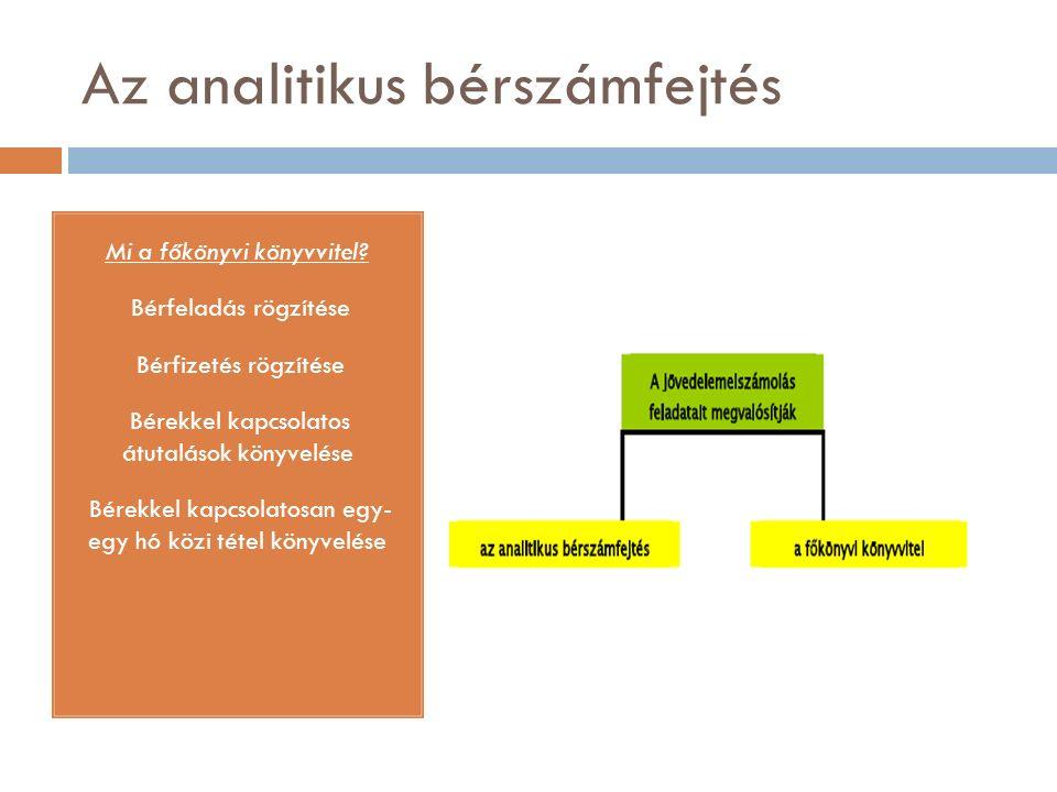 Az analitikus bérszámfejtés Mi az analitikus bérszámfejtés.