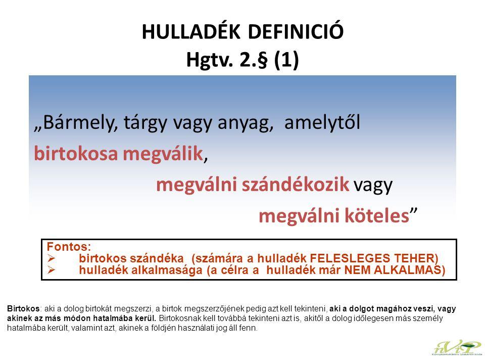 BESOROLÁS 01ÁSVÁNYOK KUTATÁSÁBÓL, BÁNYÁSZATÁBÓL, KŐFEJ- TÉSBŐL, FIZIKAI ÉS KÉMIAI KEZELÉSÉBŐL SZÁRMAZÓ HULLADÉKOK 01 03fémtartalmú ásványok fizikai és kémiai feldolgozásából származó hulladékok 01 03 04*szulfidos ércek feldolgozásából származó visszamaradó, savképző meddő 01 03 05*veszélyes anyagokat tartalmazó egyéb meddő 01 03 06meddő, amely különbözik a 01 03 04-től és a 01 03 05-től 01 03 07*fémtartalmú ásványok fizikai és kémiai feldolgozásából származó, veszélyes anyagokat tartalmazó egyéb hulladékok 01 03 08hulladék porok, amelyek különböznek a 01 03 07-től 01 03 09timföld termeléséből származó vörösiszap, amely különbözik a 01 03 07-től 01 03 99közelebbről nem meghatározott hulladékok