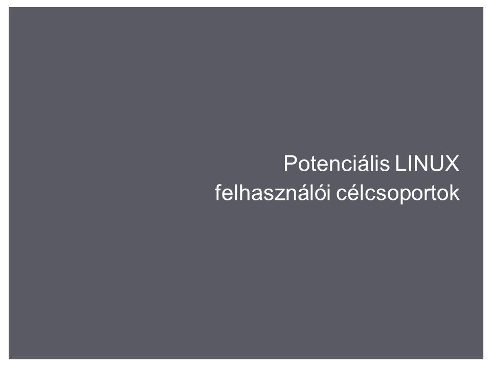 Potenciális LINUX felhasználói célcsoportok
