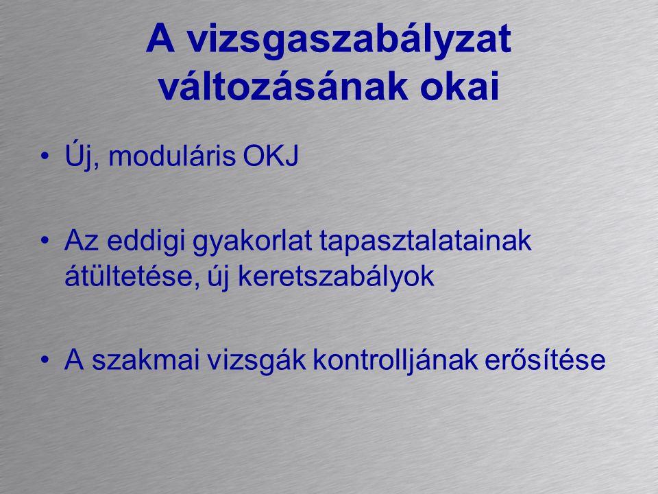 Az új vizsgaszabályzat a 20/2007.(V.