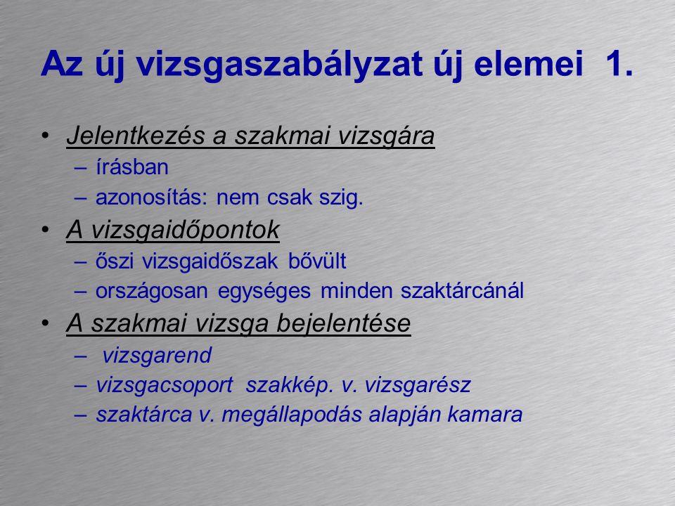 A vizsgaprogram (példa) 1.