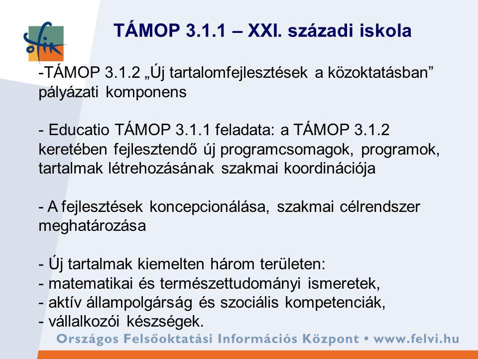 TÁMOP 3.1.1 – XXI.