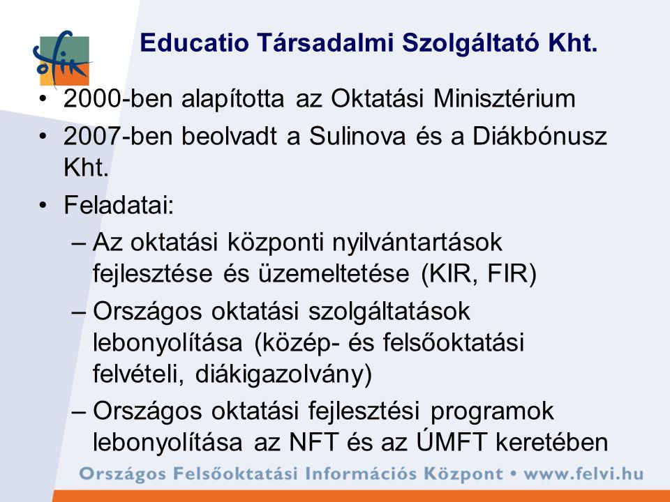 Miért az Educatio Kht.(OFIK). - fejlesztési célok és központi DPR - 1.