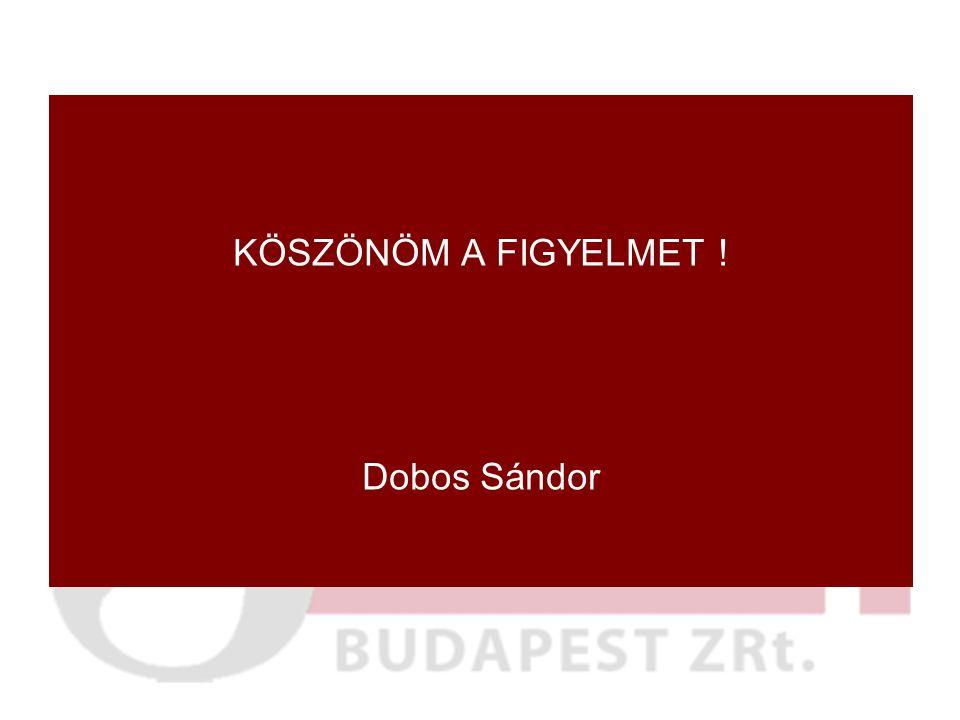 KÖSZÖNÖM A FIGYELMET ! Dobos Sándor