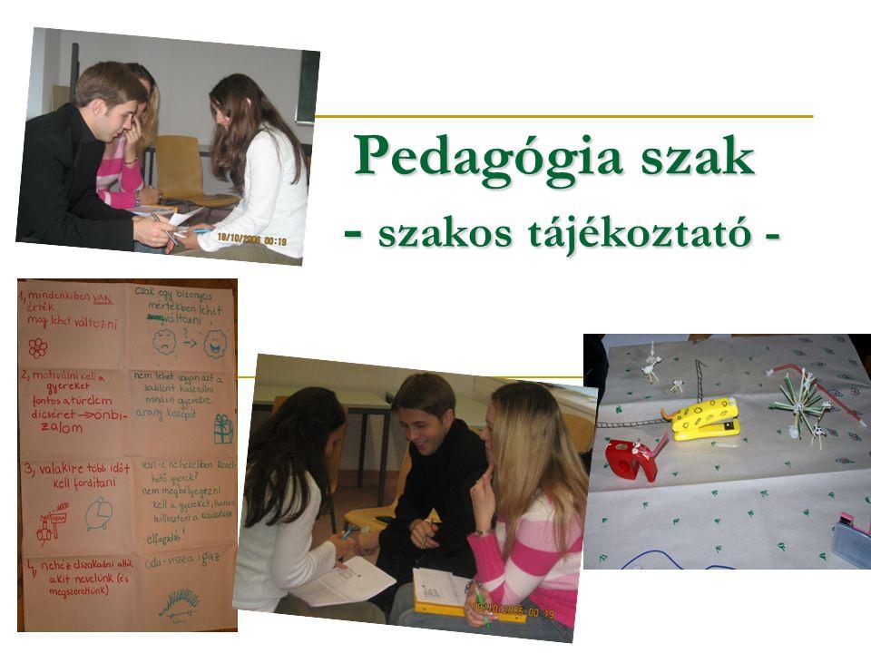 Pedagógia szak - szakos tájékoztató -