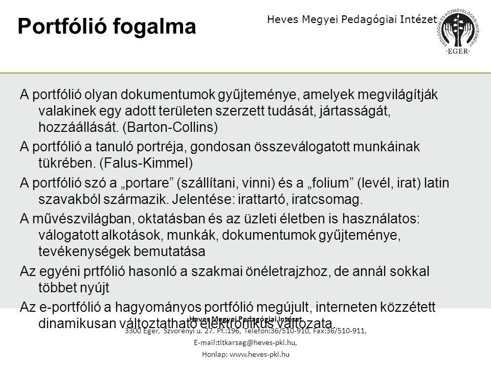 Heves Megyei Pedagógiai Intézet 3300 Eger, Szvorényi u.