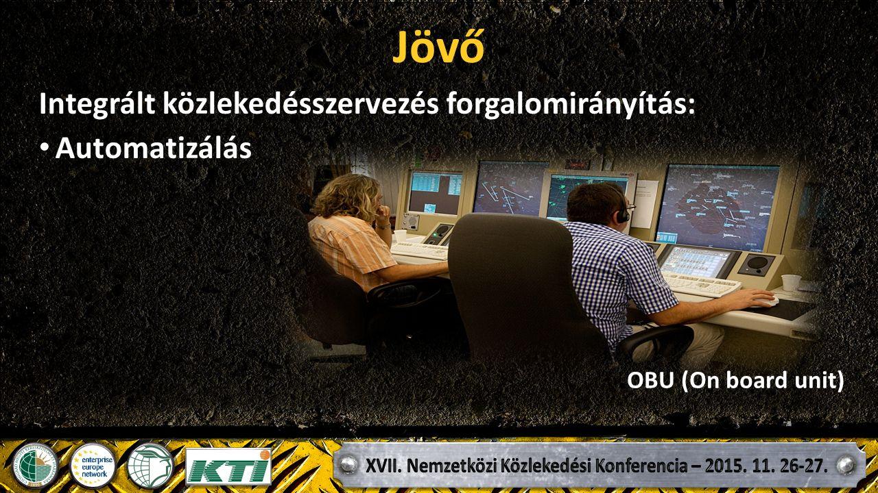 Jövő Integrált közlekedésszervezés forgalomirányítás: Automatizálás OBU (On board unit)