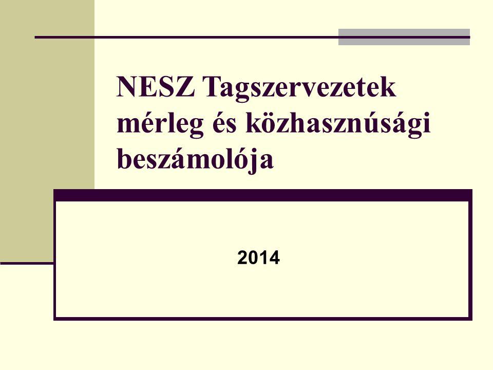 NESZ Tagszervezetek mérleg és közhasznúsági beszámolója 2014