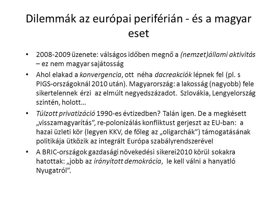 Itt tartunk most A magyar társadalom másoknál nagyobb arányban vesztesként érzi magát az új rendszerben.