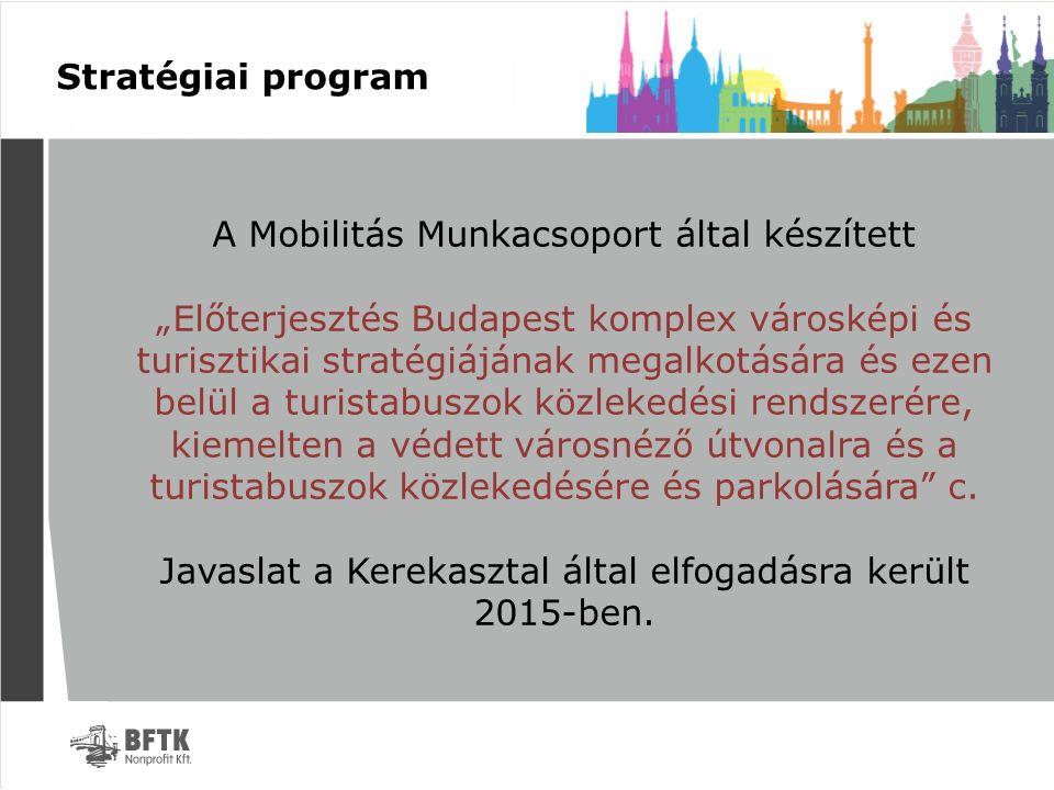 """Stratégiai program A Mobilitás Munkacsoport által készített """"Előterjesztés Budapest komplex városképi és turisztikai stratégiájának megalkotására és e"""