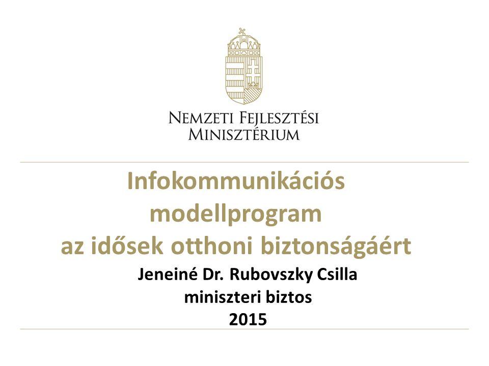 Infokommunikációs modellprogram az idősek otthoni biztonságáért Jeneiné Dr.