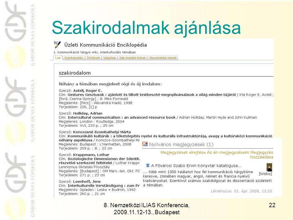 8. Nemzetközi ILIAS Konferencia, 2009.11.12-13., Budapest 23 Tanári jegyzetek az értékeléshez