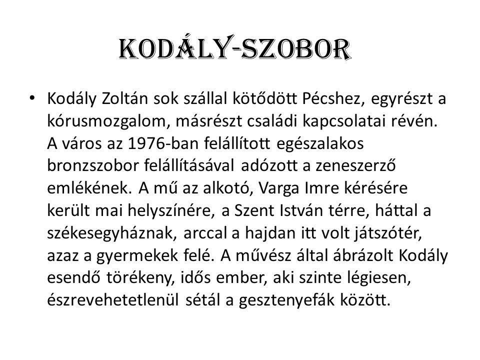 Kodály Zoltán sok szállal kötődött Pécshez, egyrészt a kórusmozgalom, másrészt családi kapcsolatai révén.