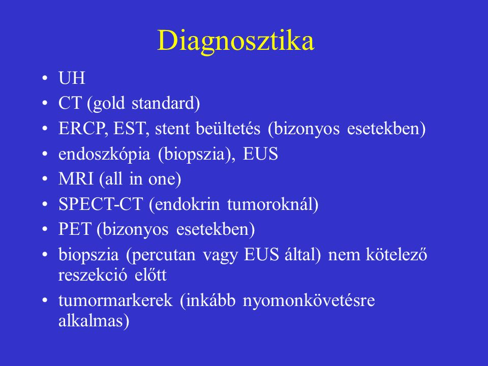 Pancreasfeji hypodens góc, mely ráknak bizonyult