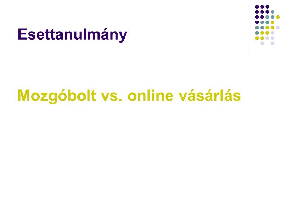 Esettanulmány Mozgóbolt vs. online vásárlás