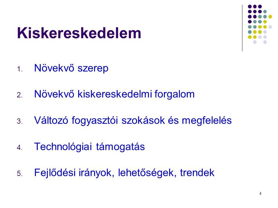 15 Hálózatok forgalma Kopcsay L.: A marketingcsatorna menedzselése, 2013:173. Az első 3!