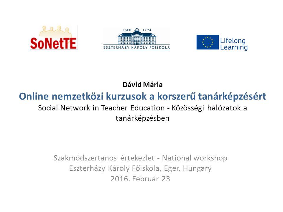 A SoNetTe pályázat célja: Nemzetközi kutató - tanuló hálózatok létrehozása a tanárképzés érdekében.