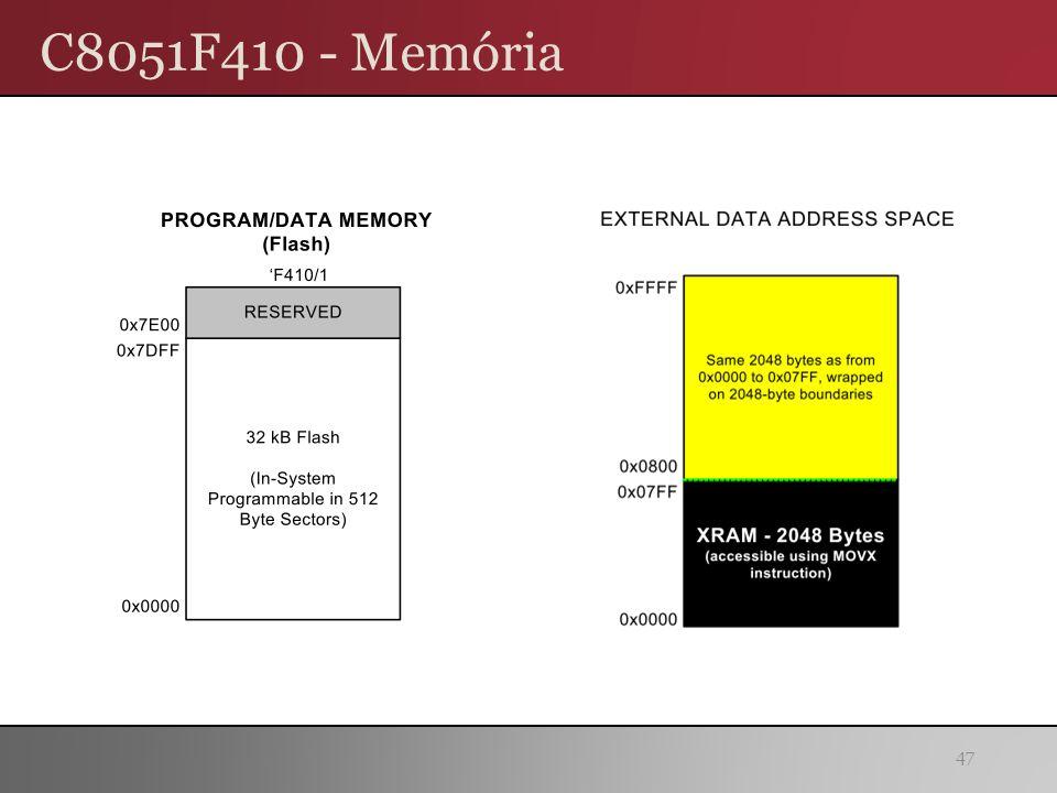 C8051F410 - Memória 47