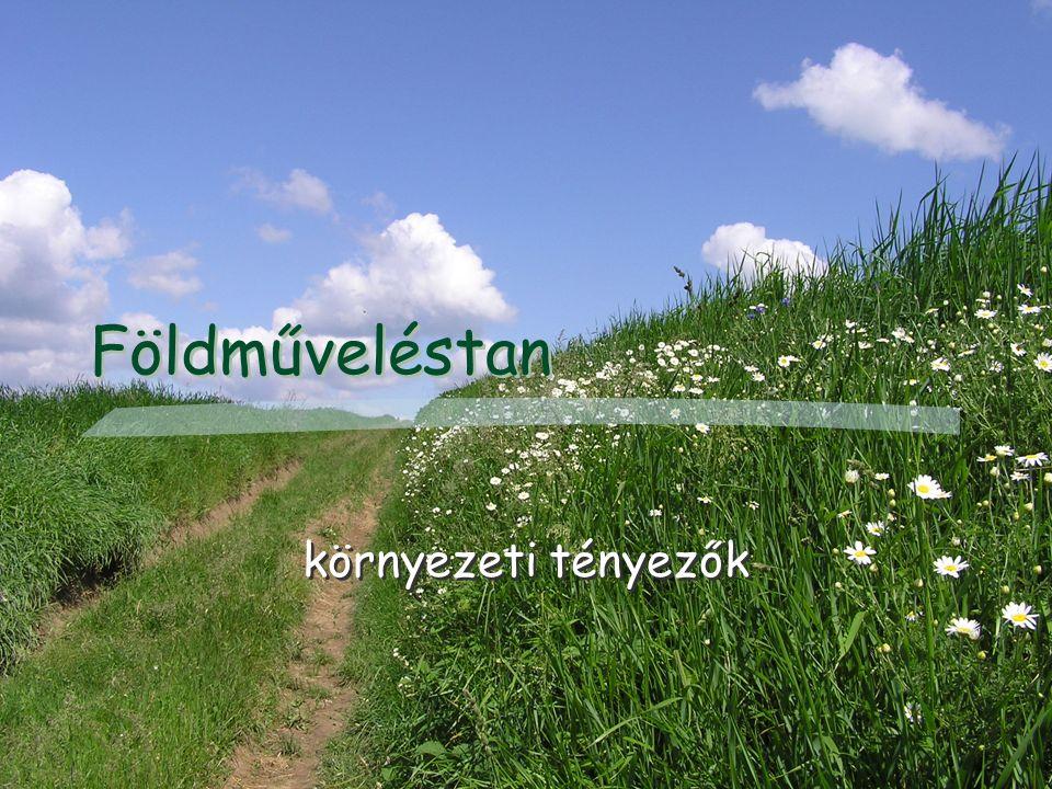 Földműveléstan környezeti tényezők