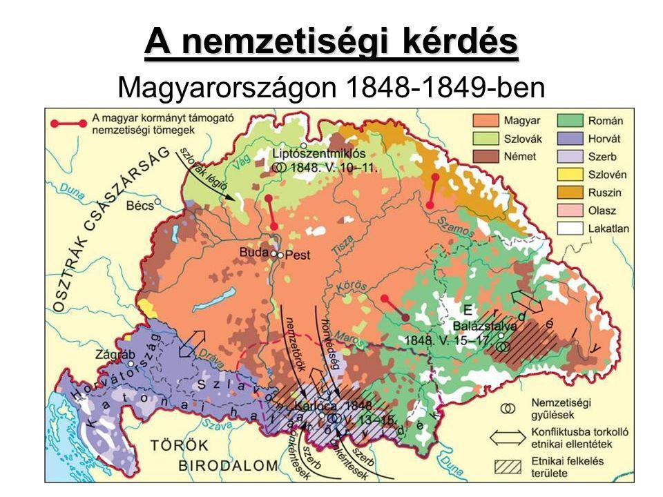 A nemzetiségi kérdés A nemzetiségi kérdés Magyarországon 1848-1849-ben