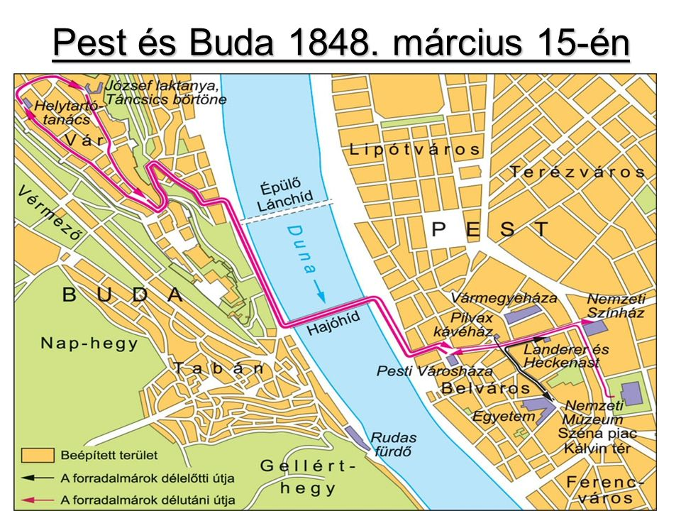 Pest és Buda 1848. március 15-én